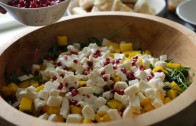 Arugula Salad with Mango, Pomegranate & Mozarella