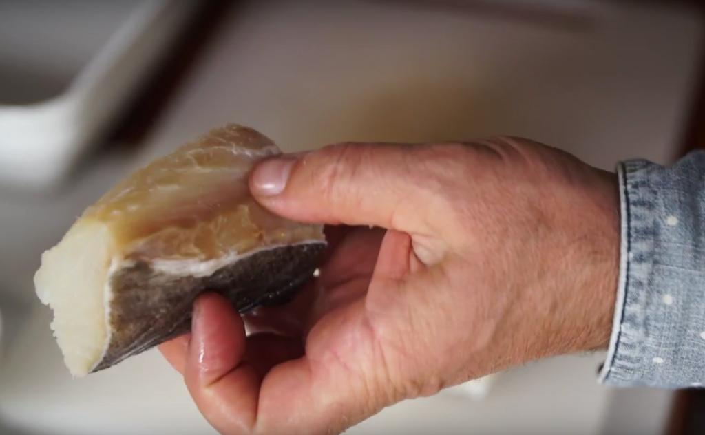 Portuguese food bacalhau confit